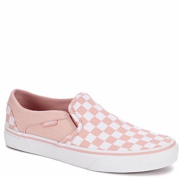 4cd808a4b1008f Vans Asher Checkerboard Blush Sneakers